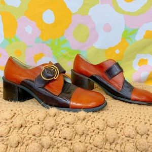 WOW Vintage 70s Platform Mary Jane Oxfords shoes